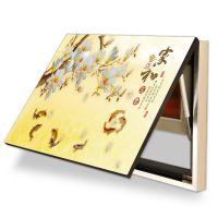 电表箱装饰画可推拉电源盒电闸箱遮挡液压大韩水晶布纹膜无框挂画