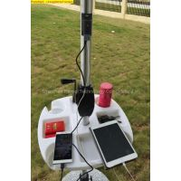 Outdoor Solar Umbrella with Battery Mobile Phone Charger