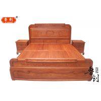 古典床欧式真皮床简约实木1.8米公主床布艺婚床头柜高背床箱床