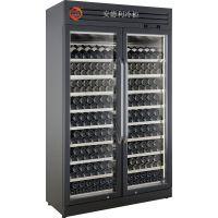 供应广州安德利 酒店红酒展示柜 KTV带门锁红酒摆放冷藏柜