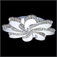 led水晶客厅卧室时尚吸顶灯 酒店工程led水晶灯 卡骐灯饰照明