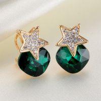 G&Y高档饰品 欧美明星同款来自星星的你五角星耳环淘宝新款