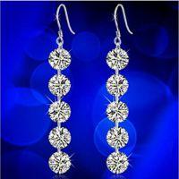S925纯银珠宝首饰  韩版时尚女式来自星星的你同款耳坠