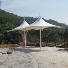 私家花园拉膜阳伞拉膜景观亭