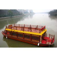10m双层画舫木船 敞开式双层画舫船 景区观光旅游船 款式可定制