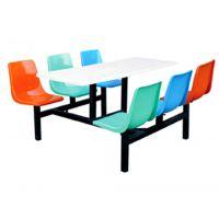 厂家批发6人直条快餐桌椅 食堂餐桌椅 工厂学校饭堂食堂餐桌椅