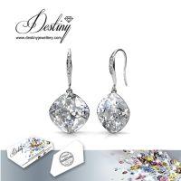 戴思妮 采用施华洛世奇元素 长款水晶耳坠 女式欧美时尚气质耳环 饰品 厂家直销