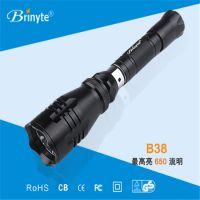 强光防爆手电筒Brinyte 远射王B38 战术开关铝合金打猎手电筒