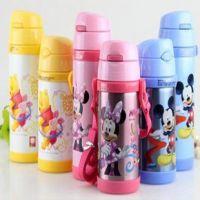 正品迪士尼吸管杯壶儿童水壶儿童婴幼儿吸管水杯保温杯送吸嘴吸管