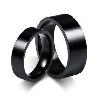 欧美外贸钛钢电镀黑色情侣戒指 不锈钢情侣对戒批发淘宝速卖通