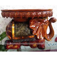 凯洛诗工艺 欧式树脂大象 换鞋凳子 创意工艺品摆件 乔迁结婚礼品