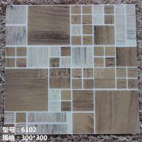 300*300佛山瓷砖抛晶砖 亚光面防滑地面砖 卫生间 餐厅浴室专用砖