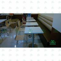 罗湖运达来餐厅家具批发 茶餐厅大理石桌 水晶白餐桌 可来图订制