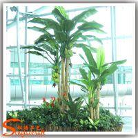 仿真香蕉树盆栽植物 绿色仿真植物盆景 热热带风情装饰树