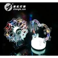 新款洋酒杯架LED充电发光心型鸡尾酒杯杯架七彩摩天轮杯架