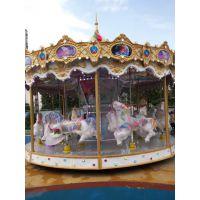 游乐园豪华木马都有几座的 天津哪有豪华转马卖 有音乐灯光的豪华转马价格
