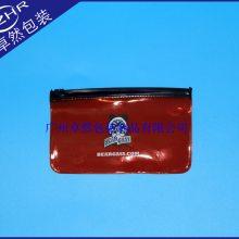 彩色透明软胶两色丝印自立自封pvc立体拉骨数码产品包装收纳胶袋