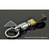 批发欧美达钥匙扣 高端金属匙扣 真皮 OMD3623