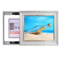 欧式电表箱装饰画推拉电表箱遮挡配电箱壁画挂画实木框D1095