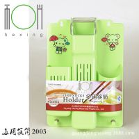厂家直销新款多用筷筒 热销餐具筷子收纳盒 塑料勺子筷子笼沥水架