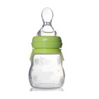 OEM代工辅食喂食瓶 果汁米糊两用硅胶奶瓶 辅食奶瓶160ml