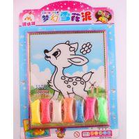鑫彩玩具厂雪花泥套装 7色儿童彩泥画 益智玩具 幼儿园手工产品制作
