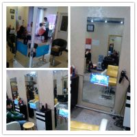 理发店专用高档镜台LED液晶电视机镜子厂家直销汇博乐银镜