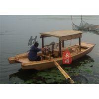 4.8米电动单亭船 木质手划船 景区旅游观光船服务类船