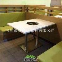 大理石火锅桌DDL-110 厂家直销 茶餐厅火锅桌 多多乐家具定制现代中式桌椅