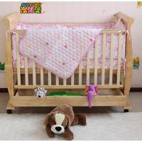 澳佑堡实木婴儿床 欧式外贸童床 工厂直销批发多功能出口宝宝床