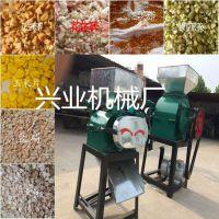 粮食麦豆挤扁机 黄豆挤扁机价格 酿酒用高粱粉碎机