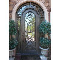 高端别墅铁艺入户门、庭院门、栏杆、护窗等