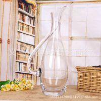 时尚简约水晶玻璃器皿花瓶 透明玻璃花瓶 玻璃摆件批发