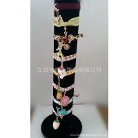 厂家特供合金立体滴油挂件手链 时尚个性织带可调节手链 DIY手链