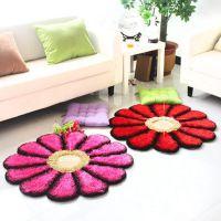 爱之家蚕丝3D太阳花韩国丝婚庆地毯电脑椅地毯地垫丝毛圆形地毯