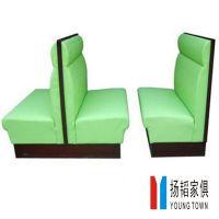 咖啡厅餐饮家具,时尚卡座沙发,皮制软包双位沙发,定做到扬韬!