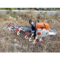 启航牌便携式挖树机 新型链条式刨树机 苗带土移苗机刨树机