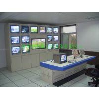 深圳厂家直销监控电视墙 8+2视频控制柜效果图 闭路电视控制机箱