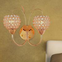 汉弗莱简约现代金色铬色水晶装饰壁灯卧室客厅餐厅灯具灯饰B95