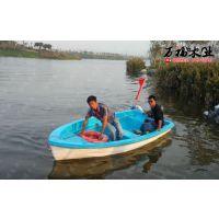 供应一头尖玻璃钢手划船 农用捕渔船