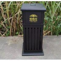 度帆欧式户外铸铁垃圾箱别墅花园铸铝景观垃圾桶
