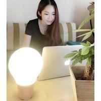 家居礼品深圳厂家供应SHS情感智能灯蓝牙音箱灯LED触摸灯泡型pc合成音乐台灯