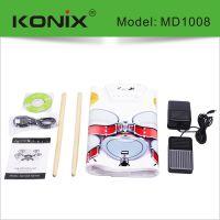 手卷电子鼓折叠架子鼓高档硅胶电子鼓 USB便携打击板爵士鼓练习鼓