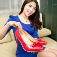 成熟女性成熟气质大牌气质纯色尖头鞋高端定制蝴蝶结细跟批发