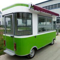 山东凯信多功能四轮电动餐车中巴小吃车房车移动快餐流动早餐咖啡奶茶车