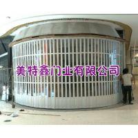 供应重庆PVC商场防盗门铝合金隔断门 家装推拉门