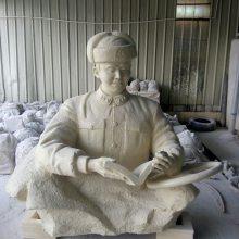 玻璃钢仿铸铜八大英雄烈士像人造石英烈人物董成瑞头像砂岩张思德雕塑像适合部队的雕塑奇美厂家供应
