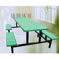广东工厂员工食堂餐桌 8人条凳餐桌椅 百货连体桌椅批发康腾体育