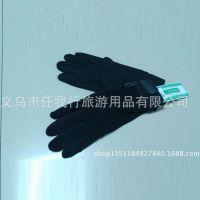 户外防滑手套 黑色抓绒防滑胶粒手套 专业防滑橡胶手套