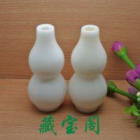 天然汉白玉葫芦花瓶摆件  玉石花瓶工艺品摆件